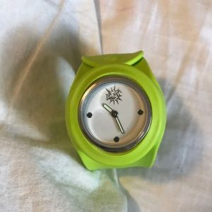 Lime green kids watch